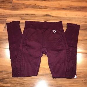 Gymshark Flawless Knit Leggings in Ruby